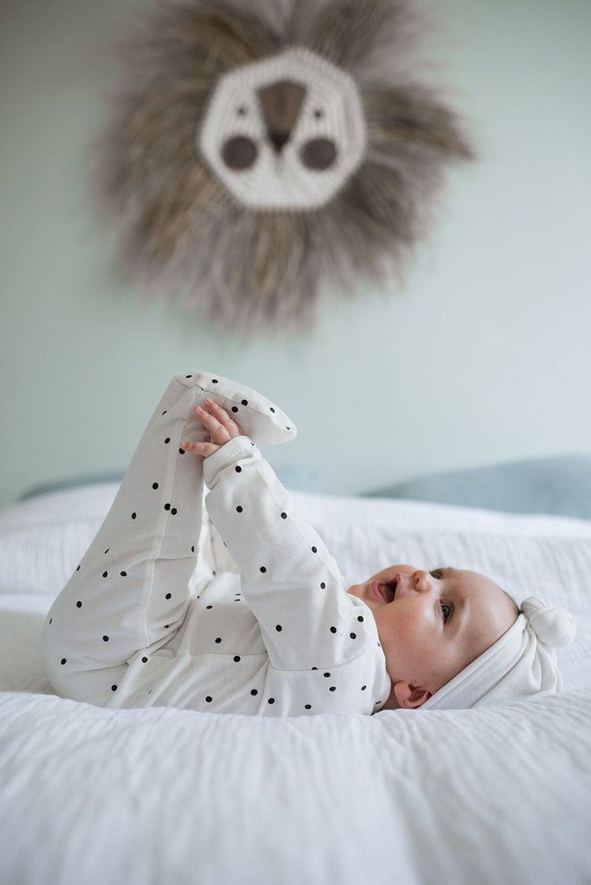 Babysuit | crazy dots cream