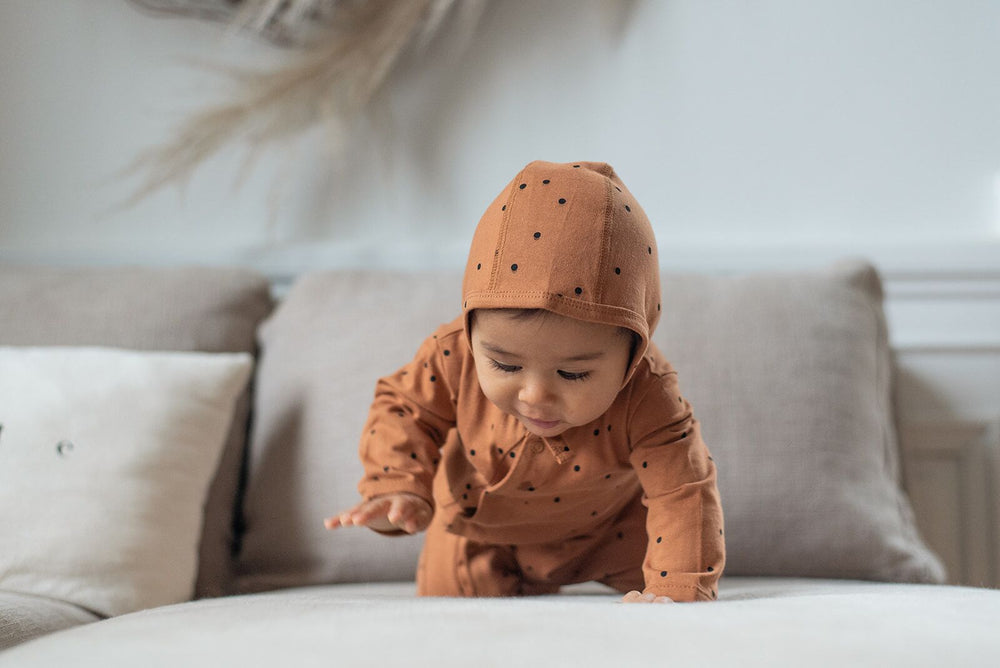 Little beanie | dots nut