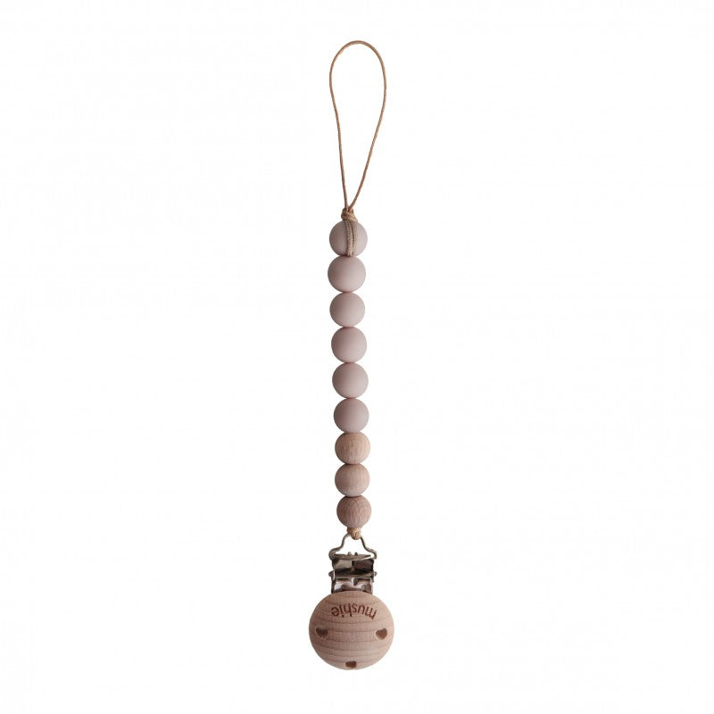 Fopspeenketting | blush/wood