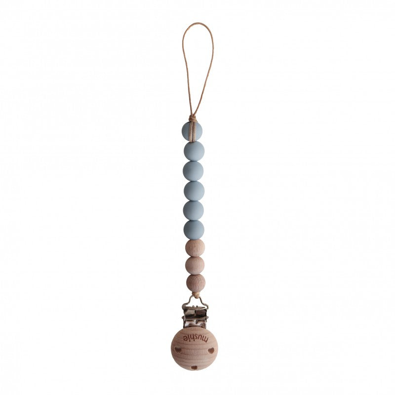 Fopspeenketting | cloud/wood