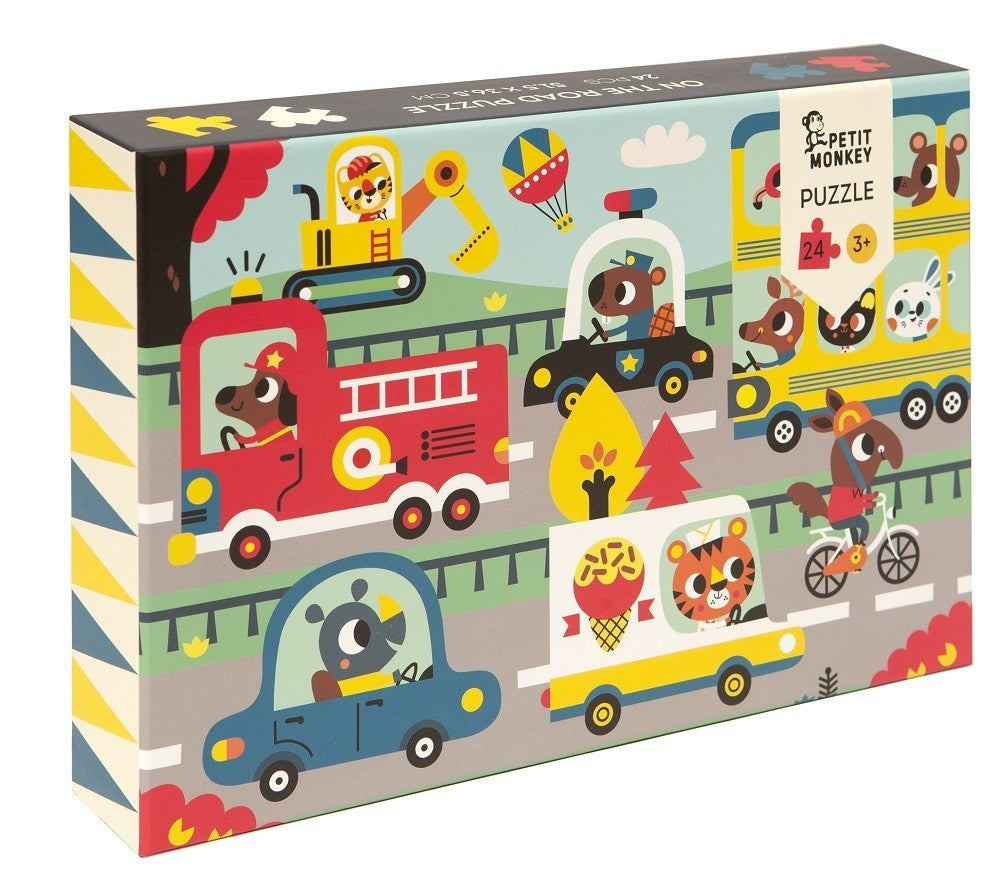"Speelgoed | puzzel ""on the road"" 24st."