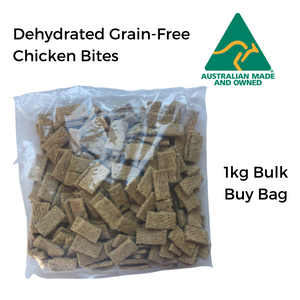All Natural Dog Treats - Dehydrated Grain-Free Chicken Bites