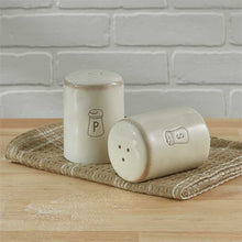 Load image into Gallery viewer, Villager Salt & Pepper Set - Cream