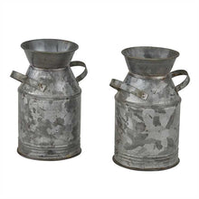Load image into Gallery viewer, Galvanized Milk Can Salt & Pepper Set