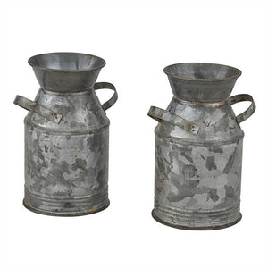 Galvanized Milk Can Salt & Pepper Set
