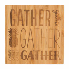 Load image into Gallery viewer, Bamboo Coasters, Gather, Gather, Gather