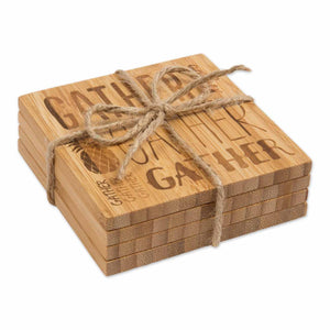Bamboo Coasters, Gather, Gather, Gather