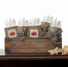 Load image into Gallery viewer, Boutique Silverware Pouches w/Black Stripe