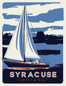 Syracuse Sailboat Postcard