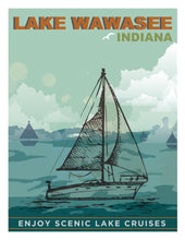 Load image into Gallery viewer, Wawasee Sailboat Postcard