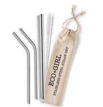Load image into Gallery viewer, Eco Girl Reusable Stainless Straw Set