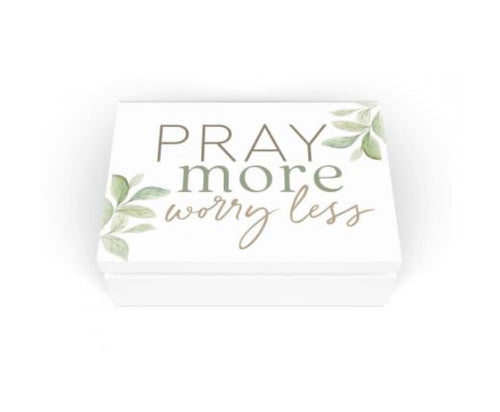 Pray More Worry Less Prayer Box