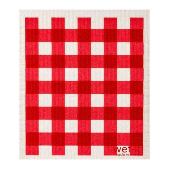 Wet-It Plaid Red