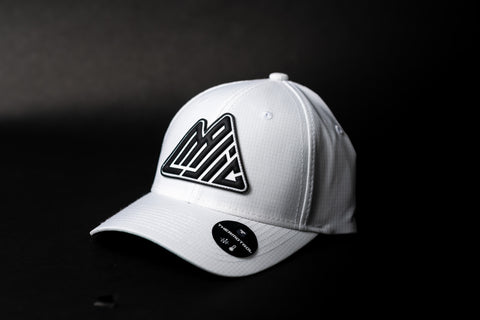 MAJIC Badge Performance Adjustable Cap - Relaxed Fit - WHITE