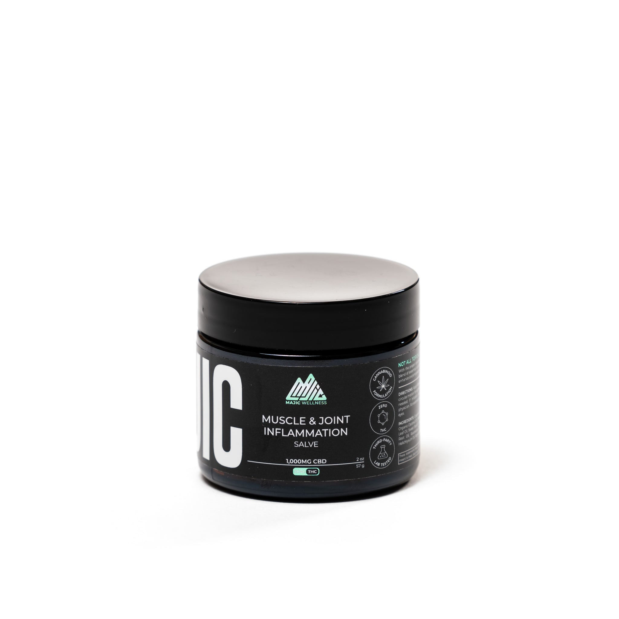 1000mg CBD Salve (2oz.) - Muscle and Joint Inflammation