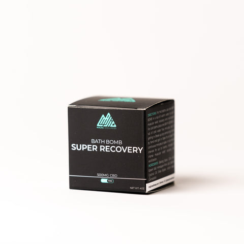 Super Recovery Bath Bomb Cube 500mg (1 Cube) - Unscented