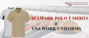 Bulwark Polo T shirts now at USA work uniforms