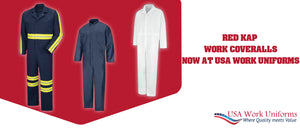 Red kap's work Coveralls now at USA work uniforms