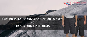 Buy Dickies Workwear Shorts now at USA Work uniforms