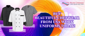 Buy Beautiful ChefWear from USA work uniforms today!