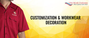 Customization & workwear decoration  at USA work uniforms