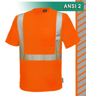 Reflective Apparel Safety Shirt: Hi Vis Pocket Shirt: Birdseye: Comfort Trim by 3M™ (VEA-102-CT)
