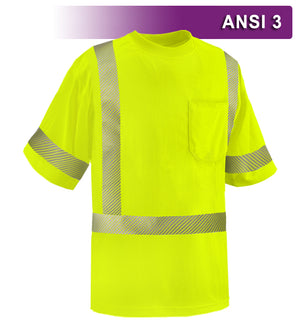 Reflective Apparel Safety Shirt: Hi Vis Pocket Shirt: Birdseye: Comfort Trim by 3M™ (VEA-104-CT)