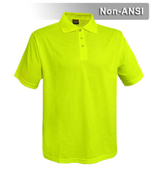 Reflective Apparel Safety Polo: Hi Vis Polo Shirt: Birdseye: Non-ANSI (VEA-300B)
