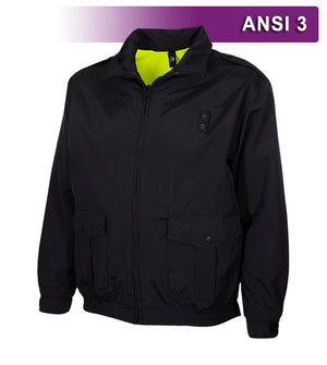 Reflective Apparel Safety Jacket: Hi Vis Law Enforcement Reversible Bomber: Waterproof: 2-Tone (VEA-462-ST)