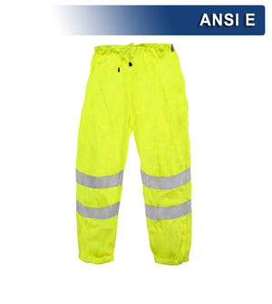 Reflective Apparel Safety Pants: Hi Vis Lightweight Mesh: ANSI E (VEA-701-ST)
