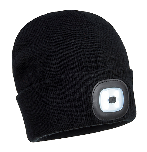 Portwest Beanie LED Head Light USB Rechargeable (B029)