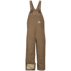 Bulwark Bln6Bdins Bib Leg Zip 14Oz Brown Duck - (BLN6BD)