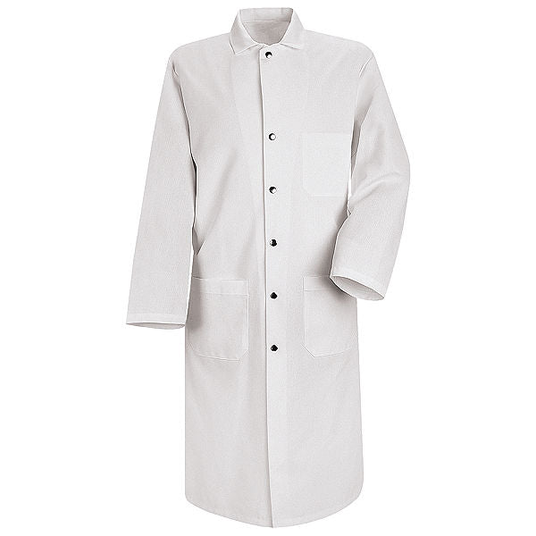 "Red Kap Snap Front Butcher Coat - 48"" long - KS58"
