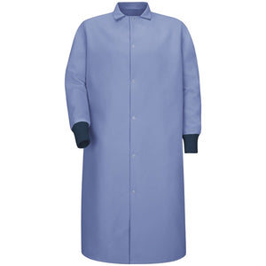 Red Kap Gripper Front Butcher Coat - No Pockets - KS60