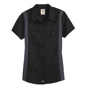 Dickies Womens S/S Industrial Color Block Top (L24S/FS524)
