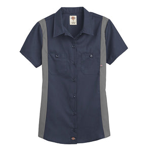 Dickies Women's Industrial Short Sleeve Color Block Shirt (L24S/FS524)