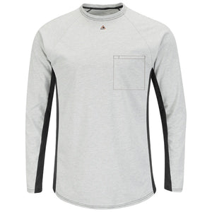 Bulwark Long Sleeve Fr Two-Tone Base Layer W/ Chest Pocket - Cat 1 (MPS8)