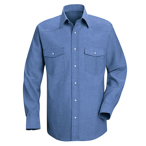 Red Kap Long Sleeve Deluxe Western Style Shirt - SC14