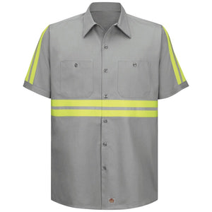 Red Kap Enhanced Visibility Cotton Work Shirt - SC40