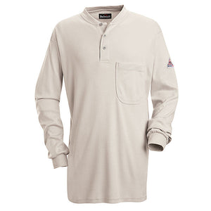 Bulwark Long Sleeve Tagless Henley Shirt - Cat 2 - (SEL2)