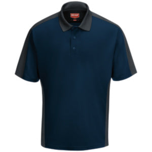 Red Kap Men's Short Sleeve Performance Knit Color-Block Polo - SK54