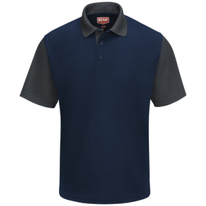 Red Kap Men's Short Sleeve Performance Knit Color-Block Polo - SK56