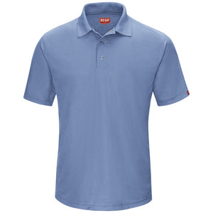 Red Kap Men's Performance Polyester Gripper-Front Knit Polo - SK74