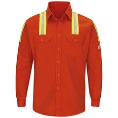 Bulwark 7 Oz Enhanced Vis Uniform Shirt Cat2 - (SLATOR)