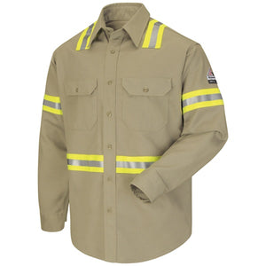 Bulwark Enhanced Visibility Uniform Shirt - Excel Fr Comfortouch - 7 Oz. - Cat 2 - (SLDT)