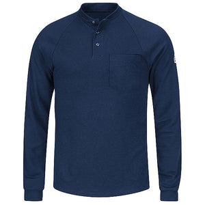 Bulwark Long Sleeve Tagless Henley Shirt - Cat 2 - (SML2)