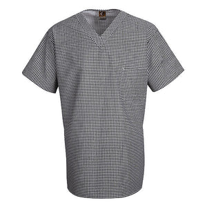 Red Kap Checked V-Neck Chef Shirt - SP08