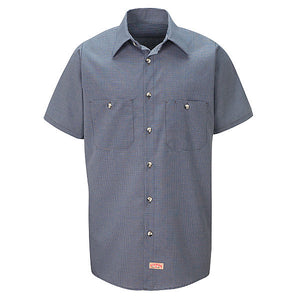 Red Kap Short Sleeve Microcheck Uniform Shirt - SP20