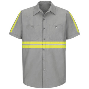 Red Kap Enhanced Visibility Industrial Work Shirt - SP24