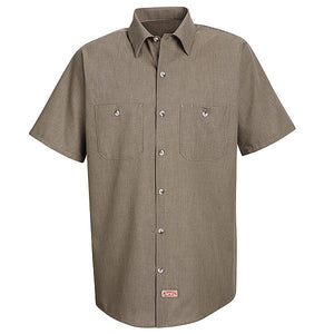 Red Kap Short Sleeve Geometric Micro-Check Work Shirt - SP24